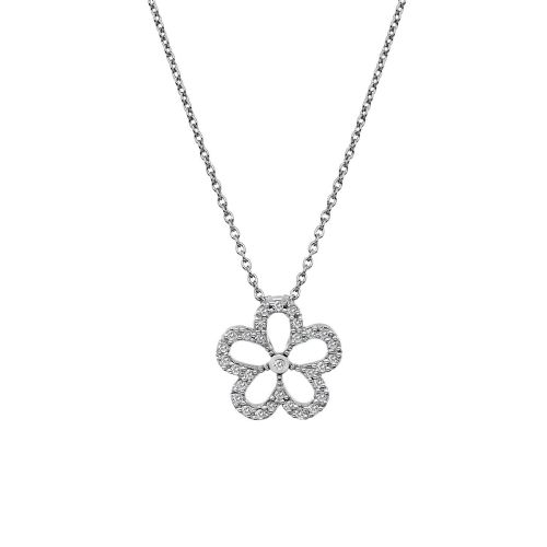 Gentle Flower Hot Diamonds Sterling Silver Necklace DP720